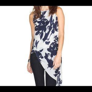 WHBM Floral Asymmetrical Layered Tunic